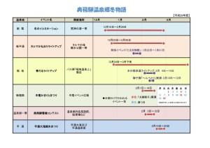 奥飛騨冬物語開催日一覧表