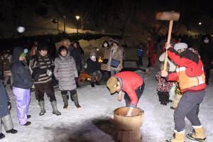 2016.2.21平湯大滝結氷まつり(餅つき)